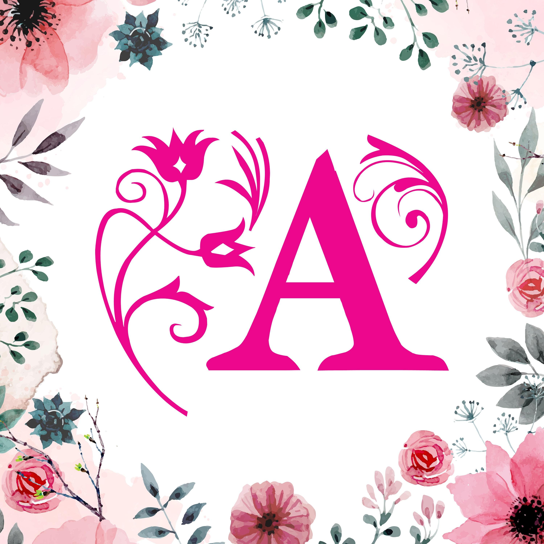 Shop Floral Monograms At Littlebrownnest Etsy Com: Floral Monogram Font SVGDXF/Flower Monogram Font