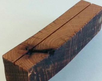 Reclaimed Oak Wood Picture/Document Holder Display