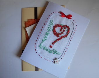 Declaration of love: greeting card