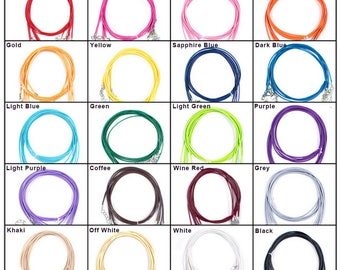 30 PCS 1.5mm Braided Waxed Necklace Cord Bulk with Extension Chain Rope and Lobster Clasp for DIY Jewelry Making