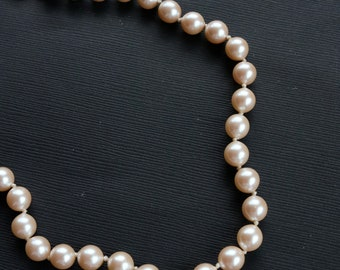Vintage Monet Pearl Necklace - Faux Pearl Choker