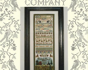 Sampler Counted Cross Stitch Pattern HEAVEN DOTH ASK - Alphabet Sampler - Primitive Design from The Sampler Company