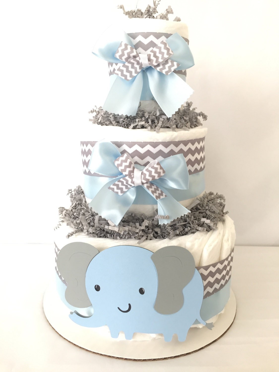 Elephant Diaper Cake Baby Shower Cakes Unique Boy For Boys