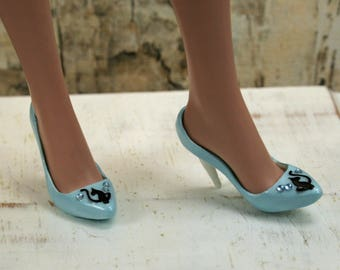 Ellowyne Pastel Blue Kitty Cat Heels