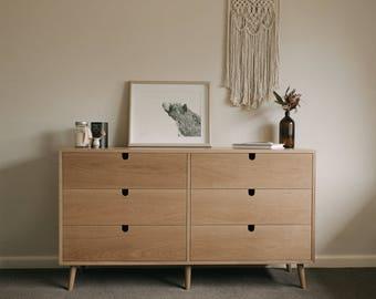 Mid Century Modern Dresser in American oak