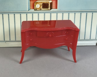 "RENWAL BUFFET, 3/4"" Scale, Hard Plastic, Moveable, 1950's, Vintage Tin Dollhouse Dining Room Furniture"