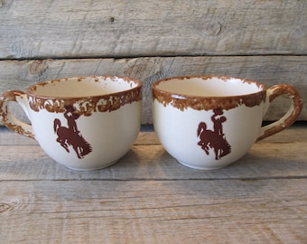 Wyoming Cowboys Soup Mug, Ready to Ship Today officially licensed