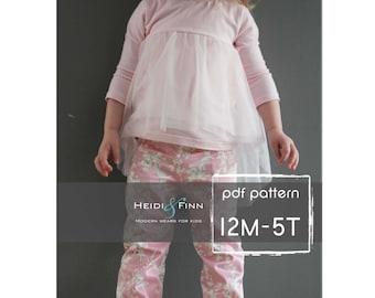 Ballon Top pattern and tutorial 12M-5T chiffon ballet tee shirt blouse PDF