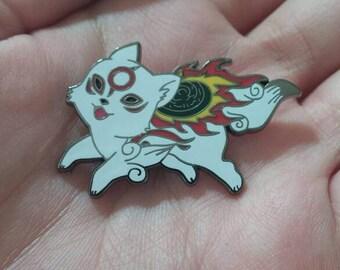 PRE ORDER Okami Chibiterasu Amaterasu enamel pin