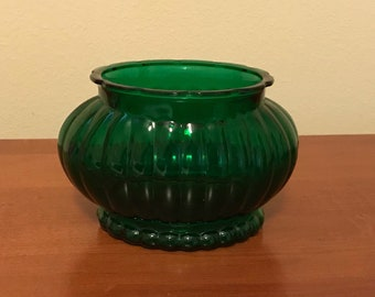 Vintage A.L.R. Co. Emerald Green Glass Vase