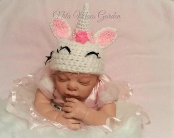 Baby Unicorn Hat Newborn 0 3m 6m Spring Fantasy Pony Horse Crochet Photo Prop Baby Clothes boy girl Gender Neutral SUPER SOFT & CUTE