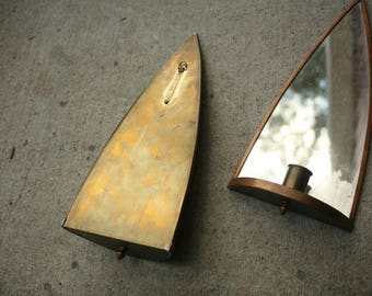 Candle Holders, Wall Hanging Copper Candlestick Holders, Wall Sconces, Hanging Art Display