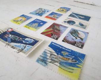 Vintage Commemorative Space Stamp Collection
