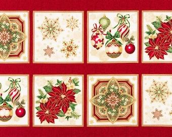Holiday Flourish 10 Fabric Panel