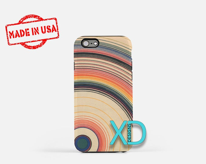 Concentric Circle Design iPhone Case, Circle Design iPhone 8 Case, iPhone 6s Case, iPhone 7 Case, Phone Case, iPhone X Case, SE Case