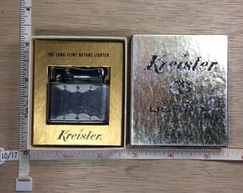 Vintage Kreisler Cigarette Lighter Butane Long Flint 15603 Original Box Used