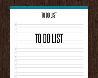 To Do List - Fillable - General Full Page To Do List - Printable PDF - Instant Download - Productivity Printable