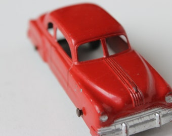 Vintage Tootsietoy Sedan Red Car Die Cast Metal Collectible Toy Car Gangster Car Cherry Red