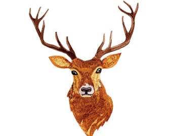 Deer's Gaze - Embroidery Trim with Glue - L & M Size for choice