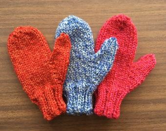 Knitting Pattern PDF - Toddler Mittens