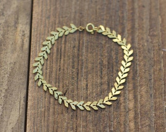 simple arrow-shaped bracelet / brass / bracelet / Boho