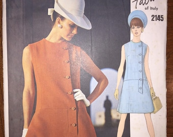Vogue Couturier Designs Sewing Pattern 2145 Misses One Piece Dress by Fabiani of Italy Size 8