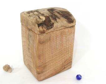 Oregon Coast Maple Box, Live Edge, cremation urn, pet urn, valet box, wood art, anniversary, gratitude box, jewelry box, outdoorsy gift