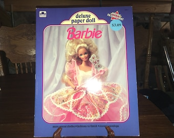 Vintage BARBIE Deluxe Paper Doll Book 1991 Intact