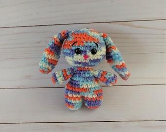 Little Easter Bunny / Multicolor Crochet Rabbit / Stuffed Animal / Handmade / Easter Gift