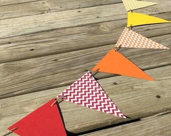 Rainbow Chevron Pennant Banner | Teacher Banner | Classroom Garland | Teacher Garland | Elementary School Garland | Classroom Decor