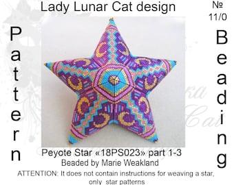 Moon peyote patterns, Crescent peyote, Geometric peyote, Stars Peyote pattern, Spring peyote, Peyote stitch, Beading patterns