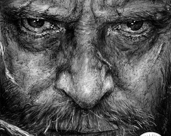 Logan Graphite Pencil Drawing Print