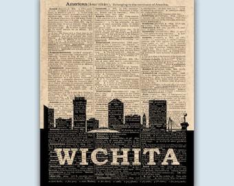 Wichita Skyline, Wichita Poster,  Wichita Decor,  Wichita Print,  Wichita Wall Art,  Wichita Gift,  Wichita Wall Decor,  Wichita Kansas