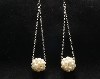 Pearl Cluster On Sterling Silver Chain