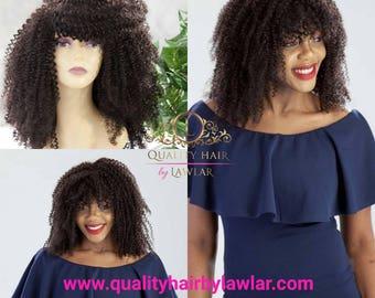 Afro wig/ Kinky Wig/ Wig sale/ Custom Wig/Human hair wig/Lace front  Wig/ Wigs with bangs / Virgin human hair wig /kinky curly wig