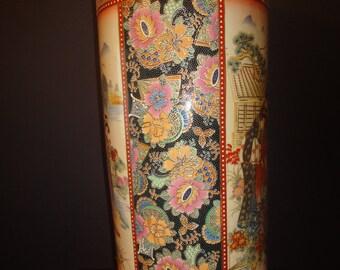 large chinese umbrella or walking sticks vase 24 inch