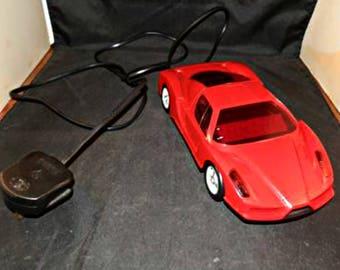 Vintage Red Ferrari Sports Car Alarm Clock Collectable Memorabilia Flashing Lights Horn Sounds Digital Display Fully Working Novelty Item