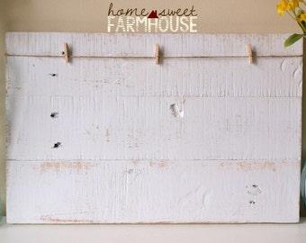 Planche de bois Photo en détresse | Pêle-mêle Photo 4 x 6 | Photo affichage planche de bois | Cadre en bois rustique | Ferme rustique | Cadeau pour maman