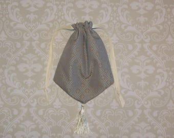 Silver and Ivory Reticule- Regency Purse