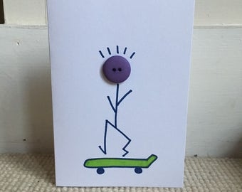 Skateboard Dude Greetings Card
