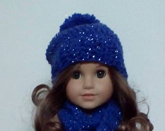 18 inch doll crochet hat and scarf sets
