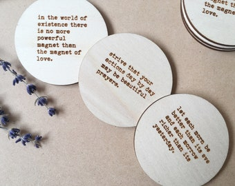 Magnets of positivity - set of 3 Baha'i quotes