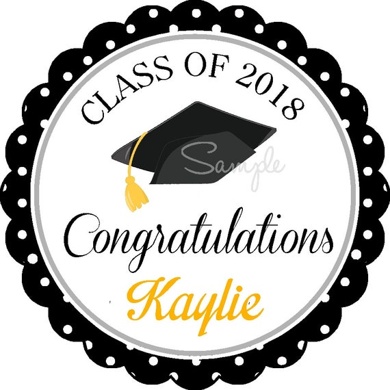 Graduation stickers personalized graduation stickers or gift tags choose your colors set of 12