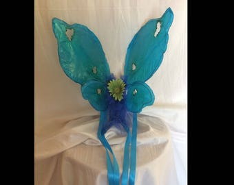 Blue Child Size Faerie Wings