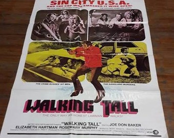"Original Rare ""Walking Tall"" Movie Poster"