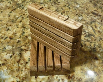 Red Oak Wooden Soap Dish for Handmade Soap Soap Saver