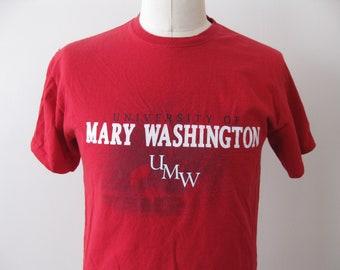 University Mary Washington t-shirt shirt UMW Adult Mens Large