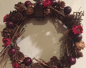 Mini Holiday Artificial Red Berry Wreath