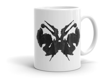 Psychology Gifts Ink Blot Art Mug Inspired by the Rorschach Psychological Test 27