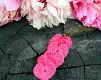 Mother gift Womens gift fuchsia crochet hearts pink mothers day gift rustic wedding decorations girl room decor party favors crochet heart